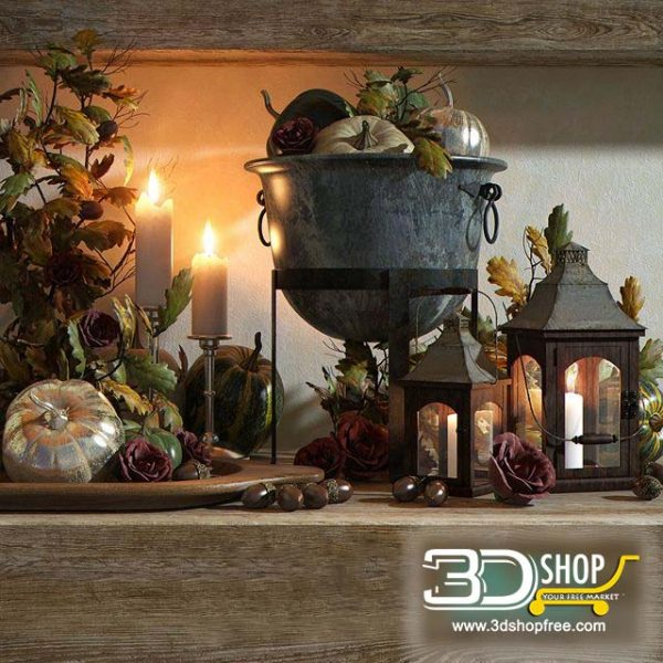 Decoration Set 3d Models 091