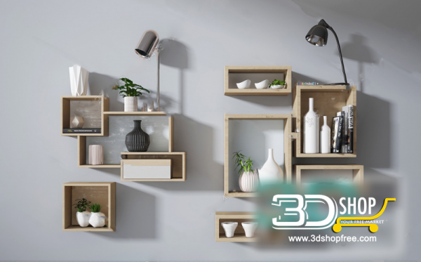 Decorative set 3d Models 099