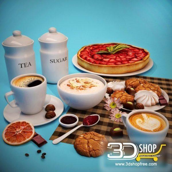 English Breakfast 3d Models 008