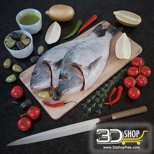 Fish Tray 3d Models 014