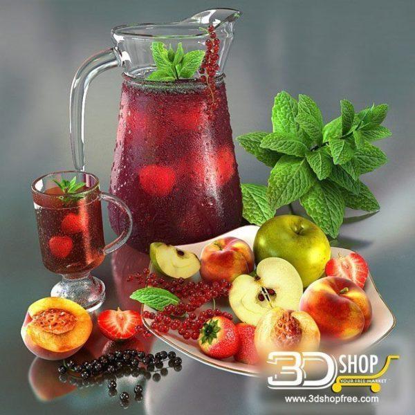 Mixed Fruits Juice 3d Models 013