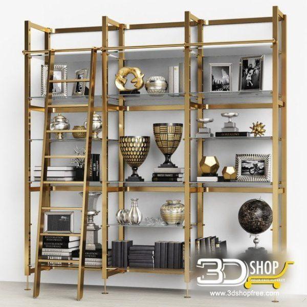 Modern Cabinet 3D Model 433