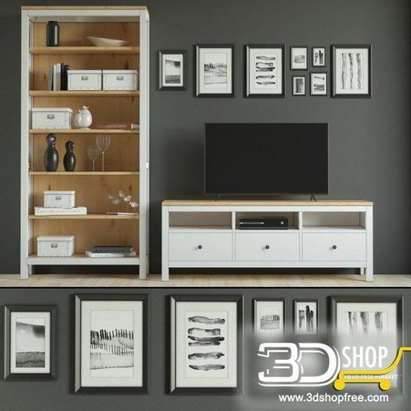 Modern Cabinet 3D Model 434