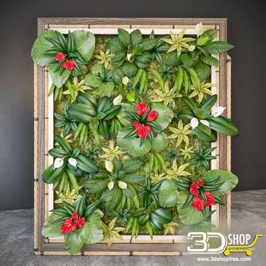 Plant Wall 3D Models 036