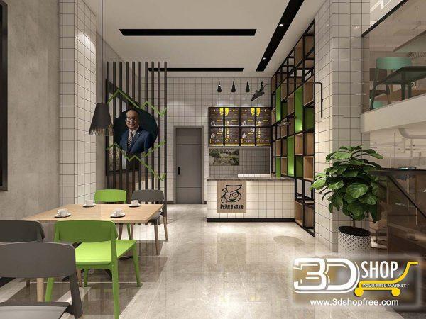 029 Restaurant 3D Max Interior Scene