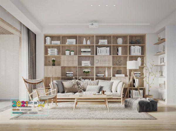 A056 Living Room Interior Scene V-Ray Render